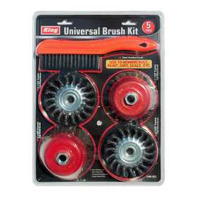 King Tools & Equipment 1400-0 5-Piece 4 In Cup & Wire Wheel