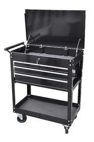 King Tools & Equipment 2305-0 Tool Cart 3 Drawer