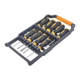 King Tools & Equipment 1593-0 Scrwdriver Set Magnetic With Cs 9pc