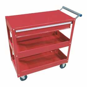 King Tools & Equipment 1699-0 Two Shelf Service Cart With Drawer