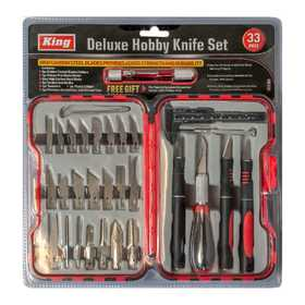 King Tools & Equipment 2014-0 Knife Hobby Kit 33pc Deluxe
