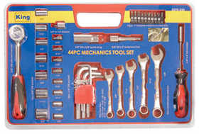 King Tools & Equipment 2270-0 Mechanics Tool Set 44pc