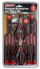 King Tools & Equipment 2508-0 Screwdriver/Plier Set 8pc