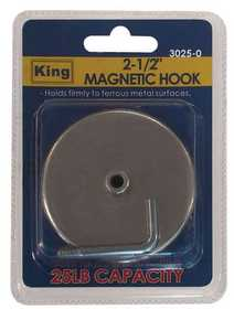 King Tools & Equipment 3025-0 Hook Magnetic 1/2 in 2pc