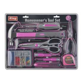 King Tools & Equipment 3107-0 Homeowners Tool Set 9pc