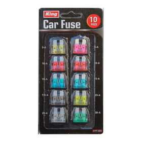 King Tools & Equipment 3177-0 Car Fuse 10 Piece