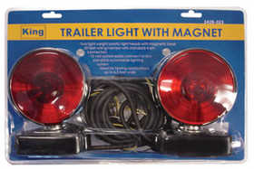 King Tools & Equipment 3428-0 Trailer Light Kit With Magnetic Mount