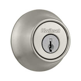Kwikset 660 15 CP Single Cylinder Deadbolt Satin Nickel