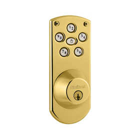 Kwikset 907 L03 CP Electronic Powerbolt Lifetime Polished Brass