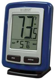 LA CROSSE TECHNOLOGY LTD WS-9009B-IT-CBP Blue Wireless Weather Station Thermometer