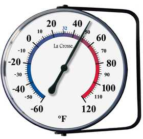 La Crosse 104-105 5 in Dial Thermometer With Bracket