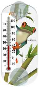 La Crosse 204-108 6.5 in Frog Clear Window Thermometer