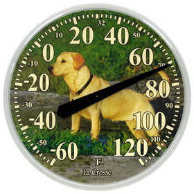 La Crosse 104-114-DOG 13.5 in Dial Thermometer With Dog