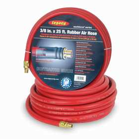 Workforce<sup>&reg;</sup> HRE3825RD2 Rubber Air Hose 3/8 in x 25 ft