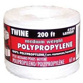 Lehigh 309 Twine Polypro Med 200 Ft White