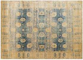 LOLOI AF-09 Anastasia Power Loomed Rug Blue /Gold 7 ft 10 in X10 ft 10 in