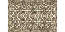 LOLOI LB-02 Lotus Power Loomed Rug Antique Ivory/Olive 2 ft 3 in X3 ft 9 in