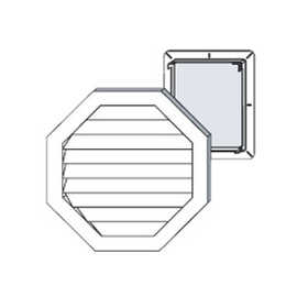 Cellwood CEOCTGV04 Vinyl Octagon Vent 22 in White