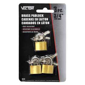 Vector 1014 Padlock 3/4 in 3pc