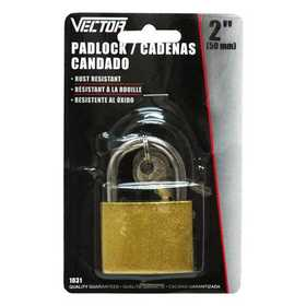 Vector 1031 Padlock 2 in Brass With 3 Keys