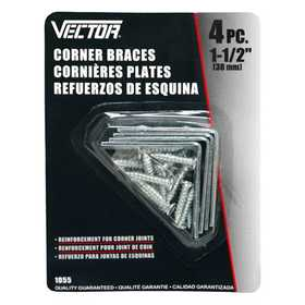 Vector 1055 Brace Corner 11/2 in 4pc