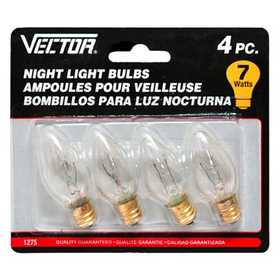 Vector 1275B Light Bulb Clear 4pk