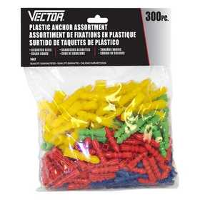 Vector 1447 Anchor Plastic 300pc Assort