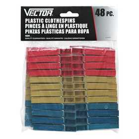Vector 1450 Clothespins Plastic 48pc