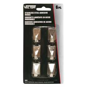 Vector 1573CS Adhesive Hook Square 6pc C/S