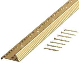 M-D Building Products 43722 Carpet Gripper With Teeth - For Stretch-In Carpet Fluted 96 In