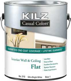 Kilz MR31001 Kilz Casual Colors Interior Flat Tint Base 1 - Gal