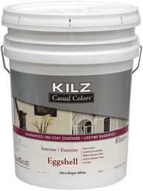 Kilz MR513105 Kilz Casual Colors Int/Ext Paint Eggshell Tint Base 1 - 5 Gal