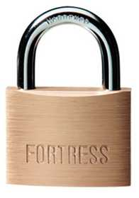 Master Lock 8850D Padlock Fortress 2 in Brass