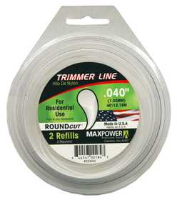 Max Power Precision Parts 333040W Round Trimmer Line .040-Inch