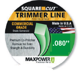 Max Power Precision Parts 332680 Square One Trimmer Line .080 in