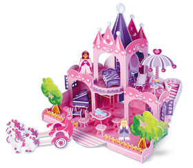 Melissa & Doug 9462 Pink Palance 3d Puzzle And Dollhouse In One