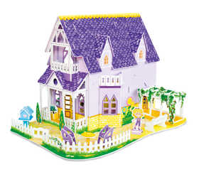 Melissa & Doug 9461 Pretty Purple Dollhouse 3d Puzzle And Dollhouse In One