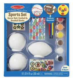 Melissa & Doug 9536 Decorate Your Own Sports Set