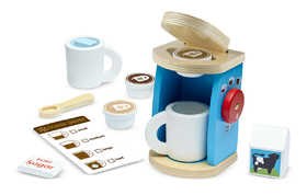 Melissa & Doug 9842 Wooden Brew And Serve Coffee Set