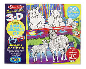 Melissa & Doug 9965 Easy To See 3d Coloring Pad Animals