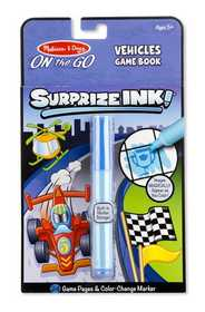 Melissa & Doug 5286 Surprize Ink! Vehicles On The Go Travel Activity Book