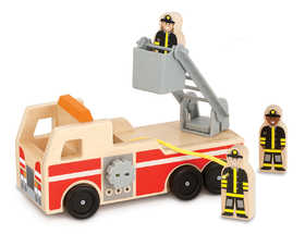 Melissa & Doug 9391 Classic Wooden Fire Truck Play Set