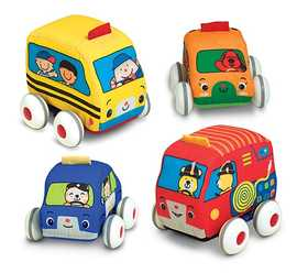 Melissa & Doug 9168 Pull Back Vehicles Baby and Toddler Toy