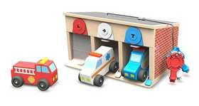 Melissa & Doug 4580 Lock And Roll Rescue Truck Garage