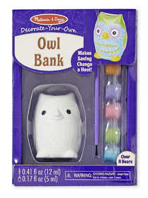 Melissa & Doug 9538 Decorate Your Own Owl Bank