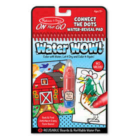 Melissa & Doug 9485 Water Wow! Connect The Dots Farm On The Go Travel Activity