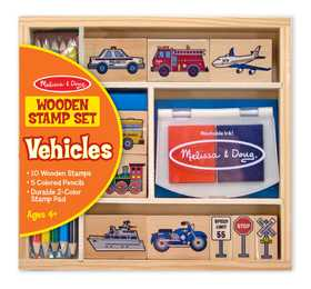 Melissa & Doug 2409 Vehicles Stamp Set