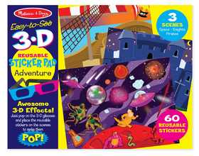 Melissa & Doug 9375 Easy To See 3-D Reusable Sticker Pad