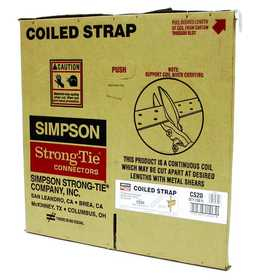 Simpson Strong-Tie CS20 Coiled Strap 250 ft Roll