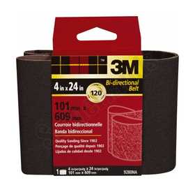 3M 9280NA 4 in X 24 in Heavy Duty Sanding Belt 120 Grit